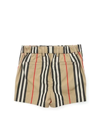 Burberry - Iconic striped pattern bermuda in Archive beige
