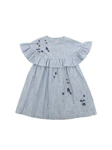 Il Gufo - Striped dress in white and blue
