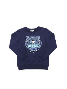 Kenzo - Sweatshirt with Tiger embroidery in blue
