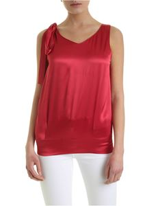 Semicouture - Arlene top in burgundy