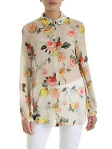Semicouture - Renae floral print shirt in nude color