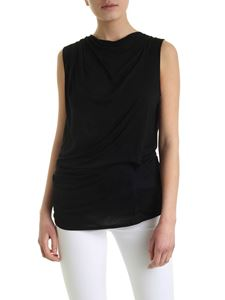 Helmut Lang - Crossover Drape top in black