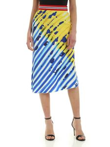 Stella Jean - Flared skirt in yellow and electric blue
