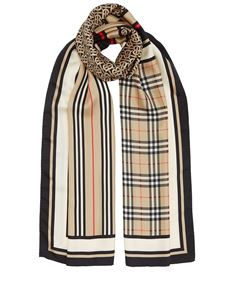 Burberry - Multicolour patterned silk scarf