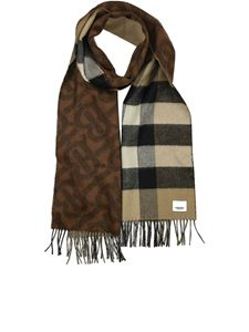 Burberry - Reversible check and TB monogram scarf