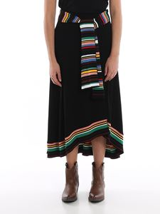 M Missoni - Cady skirt with multicolour inserts