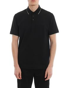 Z Zegna - Piqué polo with rubberised logo at chest