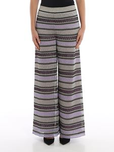 M Missoni - Striped palazzo trousers