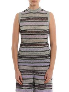 M Missoni - Striped lurex top