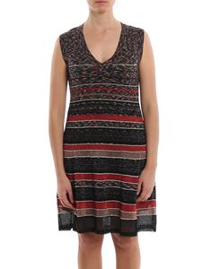 M Missoni - Striped flared dress