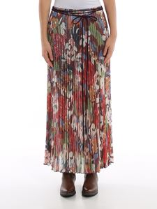 M Missoni - Floral pleated skirt