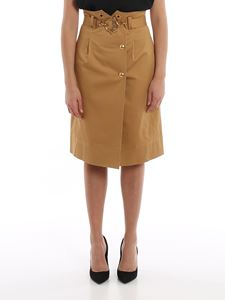 Alberta Ferretti - Wrap skirt with gold-tone buttons