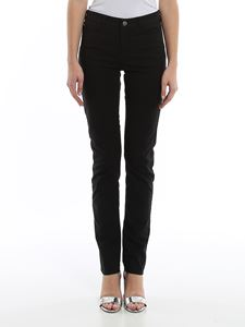 Emporio Armani - Black five pocket slim jeans