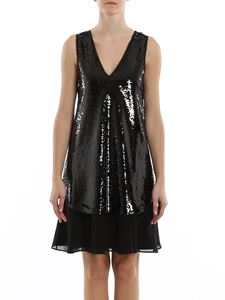 Emporio Armani - Sequined V neck dress