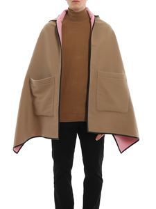 Burberry - Wool hooded cape
