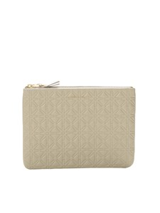 Comme Des Garçons Wallet - Embossed A pouch in cream color