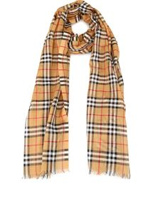 Burberry - Vintage Check wool and silk blend scarf