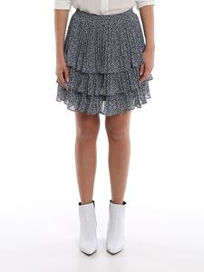 Michael Kors - Printed crepe flounced mini skirt