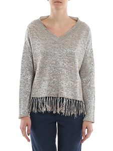 Dondup - Fringed lamé sweater