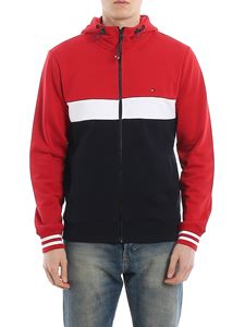 Tommy Hilfiger - Zipped cotton hoodie