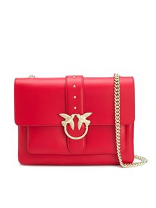 Pinko - Borsa a spalla Love Big Soft Simply rossa