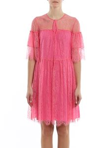 be Blumarine - Lace short dress in pink