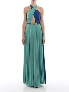 Elisabetta Franchi - Belted two-tone pleated dress