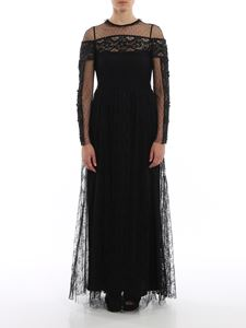 Red Valentino - Macramé and tulle dress
