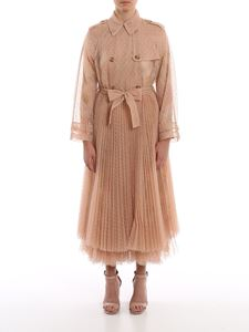 Red Valentino - Point d'esprit tulle trench coat