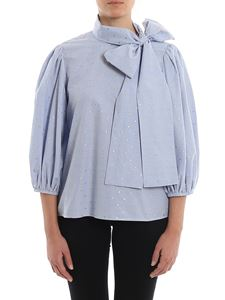 Red Valentino - Lamé flowers blouse