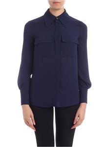 Elisabetta Franchi - Shirt with patch pockets in Navy Blue color