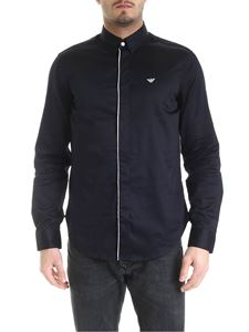 Emporio Armani - Shirt in blue with white edges