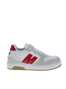MSGM - Sneakers in white with red MSGM logo