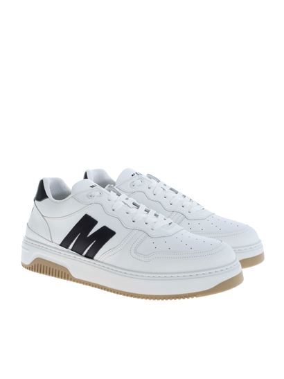 MSGM - Sneakers in white with black MSGM logo