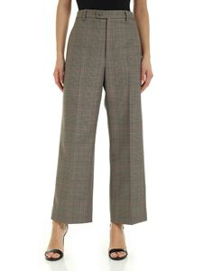 Maison Margiela - Prince of Wales check pants in brown