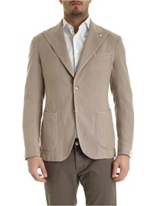 L.B.M. 1911 - Single-breasted unlined jacket in beige