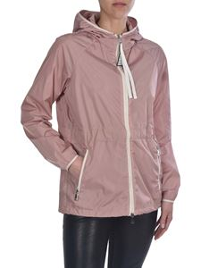 Moncler - Eau jacket with hood in pink