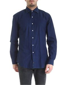 Fay - Shirt in blue with embroidery