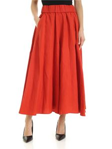 Aspesi - Cropped wide-leg trousers in coral color