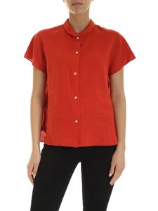 Aspesi - Short sleeve shirt in coral red