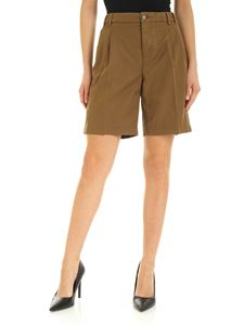 Aspesi - Pleated shorts in Tobacco color