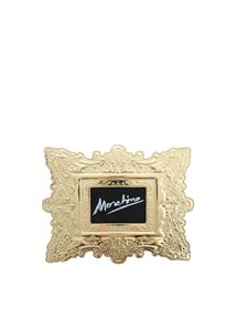 Moschino - Cornice clutch bag in gold