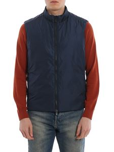 Save the duck - Water resistant padded waistcoat in blue