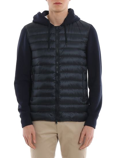 Herno - Front quilted hoodie