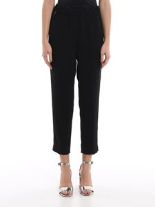 Peserico - Point light embellished black pants
