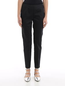 Peserico - Black cotton cigarette trousers