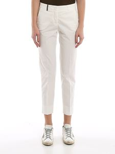 Peserico - Slim crop cotton trousers