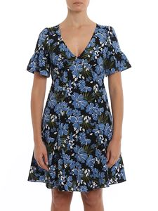 Michael Kors - Floral cady flared dress