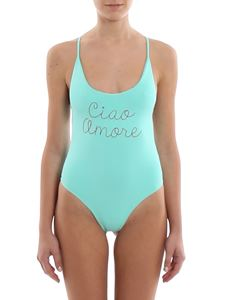 Giada Benincasa - Ciao Amore embroidered one-piece swimsuit