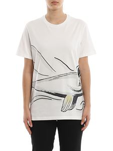 Moncler - Embroidered printed cotton T-shirt